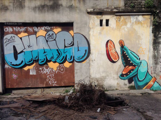 Street Art At George Town - Old Quarter - Penang - Malaysia - October 2016