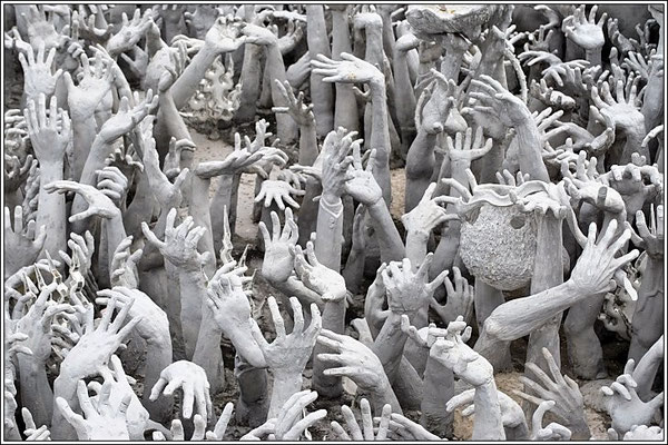 Detail Wat Rong Khun Or The White Temple