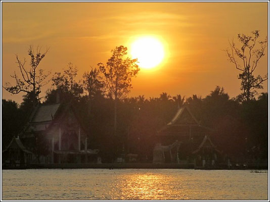 Sunset On The River - Amphawa