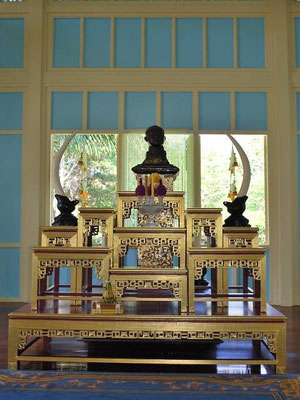 Hua Hin - House Shrine At The Wooden Palast  - Phra Ratchaniwet Marrukha Thayawan -