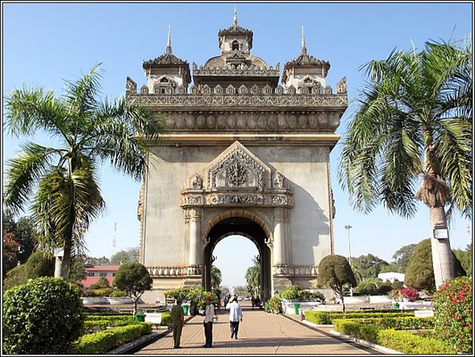 Vientiane - Patuxai the Victory Gate -