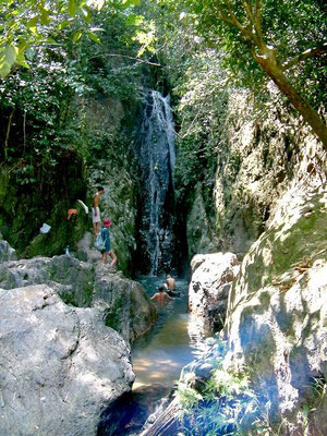 Phuket - Waterfall Near Phuket Gibbon Rehabilitation Project -