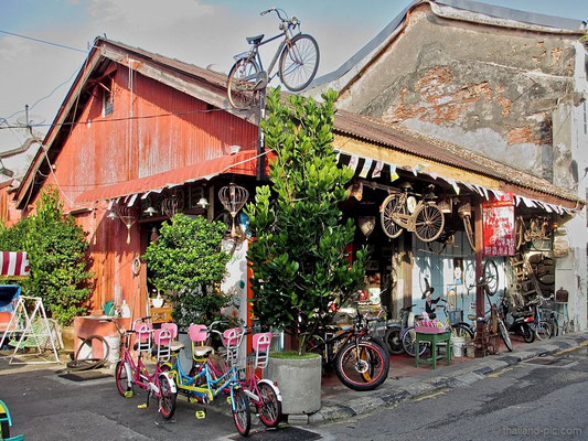 Rent A Bicycle - Old Quarter - George Town - Penang - Malaysia - January 2016