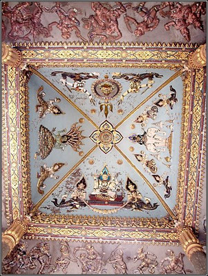 Vientiane - Patuxai Ceiling