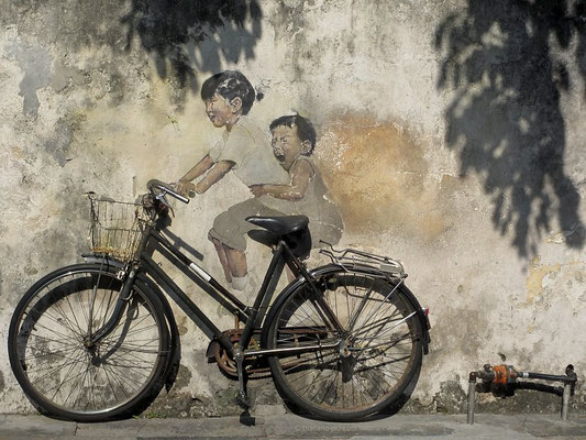 Street Art At George Town - Old Quarter - Penang - Malaysia - January 2016