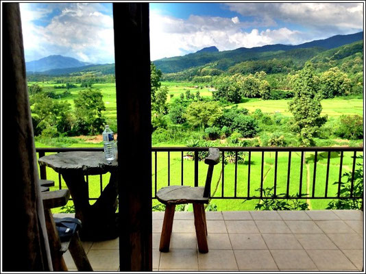 View From The Bungalow - Baan Huanam Mushroom Farm - Sila Laeng - Pua District - Nan Province