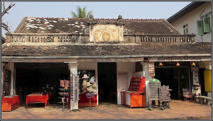 Luang Prabang -  Nice old shop architecture