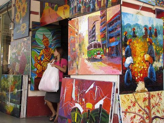 Art Gallery At The Scott Market - Yangon - Myanmar