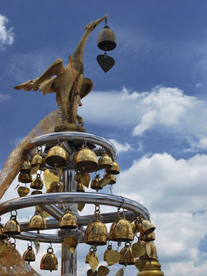 Bells on top of the Golden Mount - Bangkok