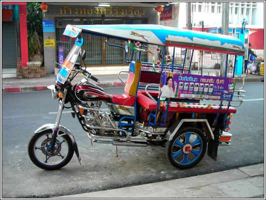 Typical Nong Khai Tuk Tuk