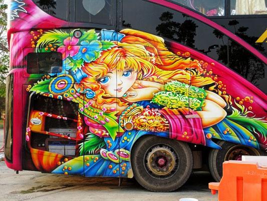 Bus Airbrush Art - Thailand