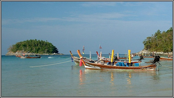 Longtail Boats At Kata Beach