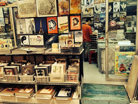 Poster Shop At Chatuchak Weekend Market - Bangkok - Thailand