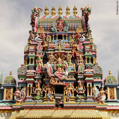 Hindu Temple - Little India - George Town - Penang - Malaysia - April 2017