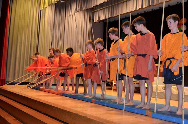 Die Jugi Oberstufe zeigte Shaolin-Kung-Fu.