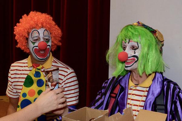 Beat und Adi als Glacen-Clowns…