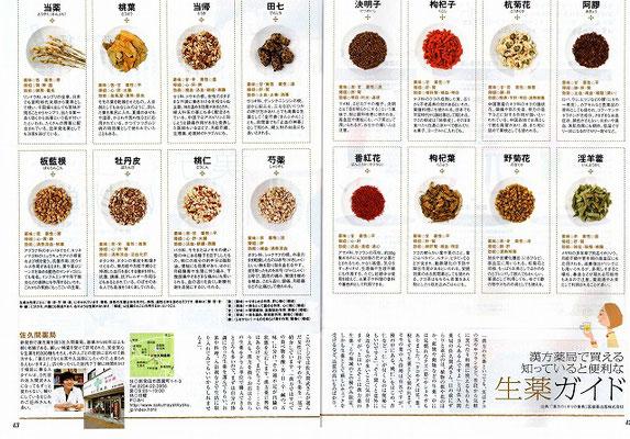 新潟中医薬研究会の会員6店舗が紹介された「月間キャレル2009年9月号」その2