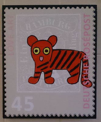 "Tiger auf Forex 25 x 30 cm  <span style=""font-size: 26px;""><span style=""color: #41818f;""><strong>15 €</strong></span><br /></span>"
