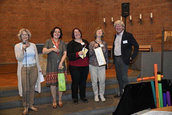Verleihung des Publikumspreises für ein Kunstwerk der Ausstellung