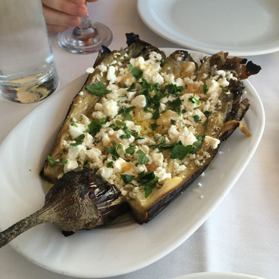 grilled eggplant in Greece