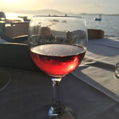 Cooled Rose Wine in Greece