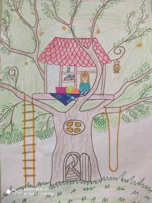Мрія -будиночок на дереві!, Яна Гродська, 7 років.