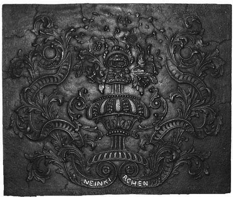 Inv.-Nr. 352   Neunkircher Blumenkorb, Kaminplatte xx x xx cm, Neunkirchen, um 1700