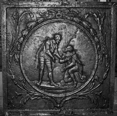 Inv.-Nr. 376   Galante Szene  Kaminplatte, xx x xx cm, Lothringen, 18. Jh.
