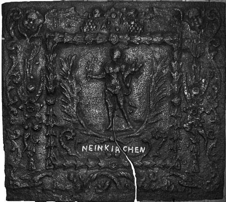 Inv.-Nr. 320   Pomona/Pax, Kaminplatte 80 x 72 cm, Neunkirchen, um 1700