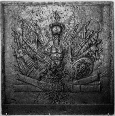 Inv.-Nr. 341   Napoleon Bonaparte, Kaminplatte 100 x 100 cm, Lothringen, 1804-1814