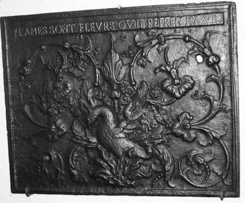 Inv.-Nr. 262   Phönix, Kaminplatte 90 x 70, Villerupt (Lothringen), um 1688