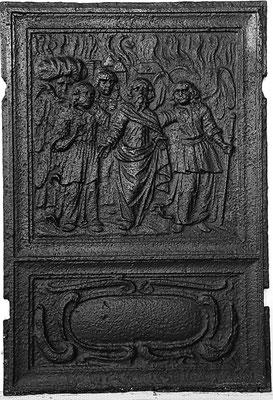 Inv.-Nr. 159   Loth und seine Töchter, Ofenplatte xx x xx cm, Eisenschmitt/Weilerbach (?), ab 1683