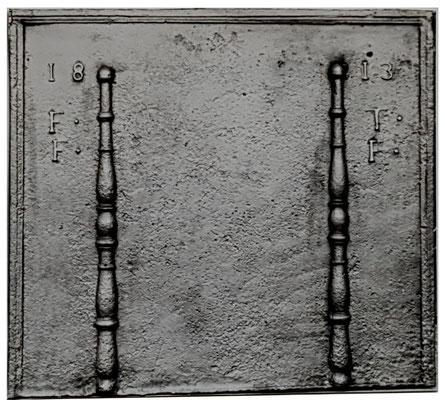 Nr. 400   Hochzeitsplatte  Kaminplatte, xx x xx cm, Lothringen, dat. 1818