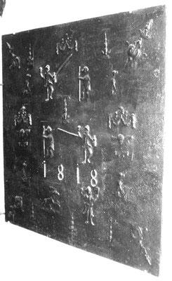 Inv.-Nr. 360   Spielmann, Kaminplatte 91 x 91 cm, Quinte(?), dat. 1818