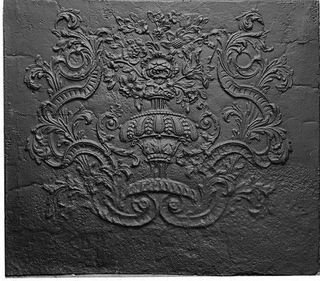 Inv.-Nr. 353   Neunkircher Blumenkorb, Kaminplatte xx x xx cm, Neunkirchen, um 1700