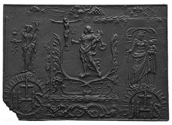 Nr. 386   Passion Christi, Kaminplatte xx x xx cm, Quint, Anfang 18. Jh.