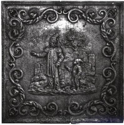 Inv.-Nr. 339   Jakobiner, Kaminplatte 80 x 80 cm, Lothringen, um 1795