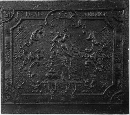 Inv.-Nr. 252   Allegorie des Winters,  Kaminplatte 73 x 67 cm, Saarland, um 1730/40