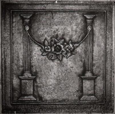 Inv.-Nr. 281   Zwei kannelierte Säulen  Kaminplatte, xx x xx cm, Lothringen, um 1800