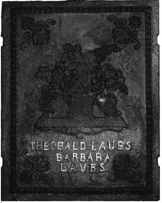 Inv.-Nr. 362   Hochzeitsplatte  Ofenplatte xx x xx cm, Elsaß, 19. Jh.
