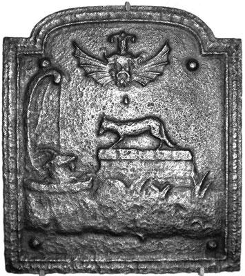 Inv.-Nr. 348   Der Fuchs und der Bock, Kaminplatte xx x xx cm, Lothringen, 18./19. Jh.