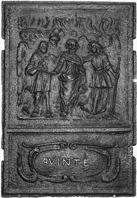 Inv.-Nr. 158   Loth und seine Töchter, Ofenplatte 60 x 78 cm, Quint, ab 1683
