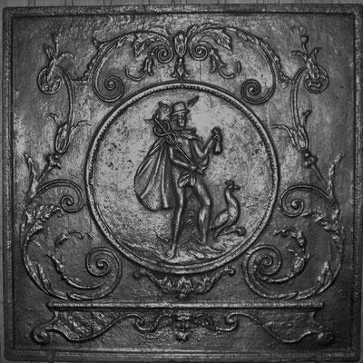 Inv.-Nr. 309   Hermes, Kaminplatte 82 x 82 cm, Lothringen, 18./19. Jh.