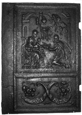 Inv.-Nr. 202   Die Anbetung der Könige, Ofenplatte 52 x 71 cm, Quint, ab 1683