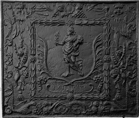 Inv.-Nr. 323   Pomona/Pax, Kaminplatte 85 x 72 cm, Quint, nach 1683