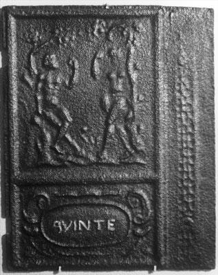 Inv.-Nr. 149   Adam und Eva, Ofenplatte  47 x 63 cm, Quint, ab 1683