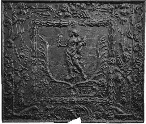 Inv.-Nr. 324   Pomona/Pax, Kaminplatte 85 x 72 cm, Quint, nach 1683
