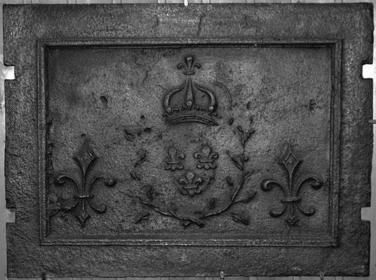 Nr.   118 Wappen Frankreich (Ludwig XV.) anlässlich der engültigen Annexion Lothringens, Ofenplatte 72 x 53 cm, Lothringen, 1766