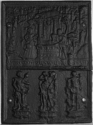 Inv.-Nr. 233   Jesus und die Samariterin, Ofenplatte XX x XX cm, Lahngebiet (?), 17. Jh.