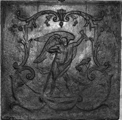 Inv.-Nr. 316   Chronos, Kaminplatte xx x xx cm, Lothringen, 2. H. 18. Jh.